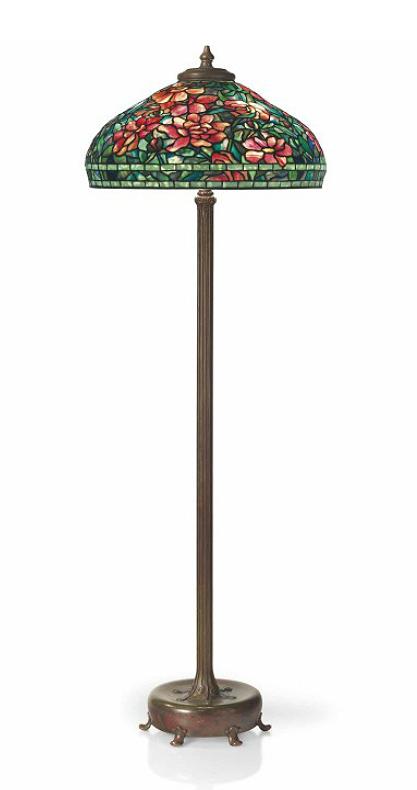 "Tiffany Studios 22"" diameter Peony floor lamp, Christie's lot #14"