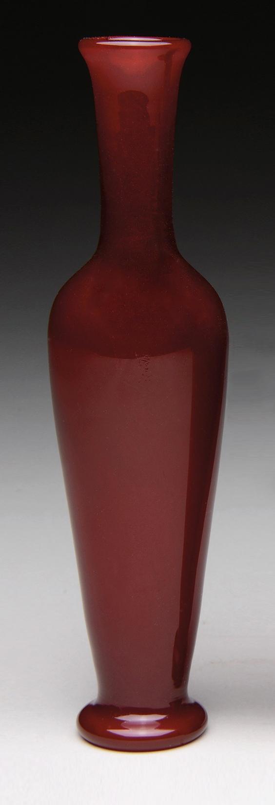 Fine, rare Tiffany Favrile red vase