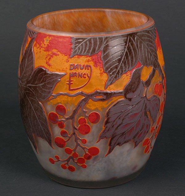 Reproduction Daum vase with fake signature