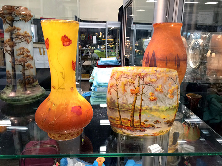 These two fine Daum Nancy vases are just in