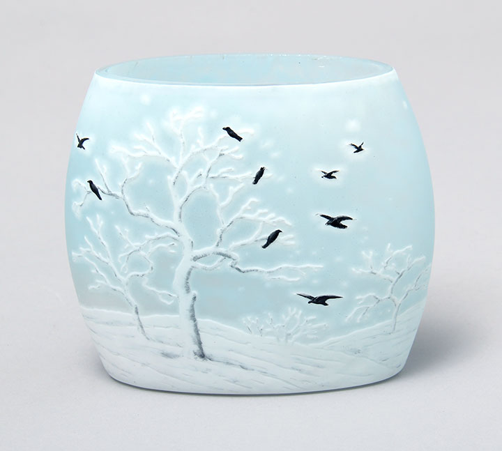 We'll have this rare Daum Nancy blackbird vase at the show