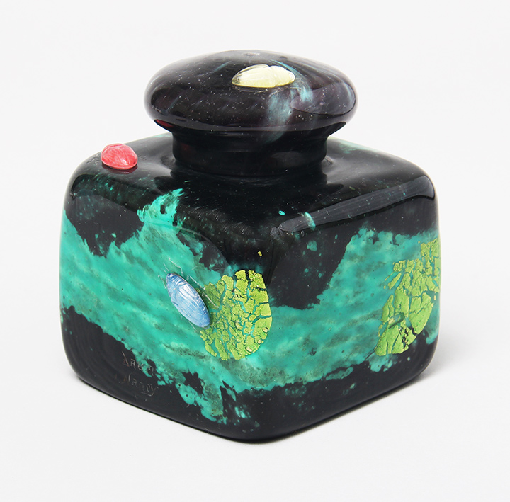 Daum inkwell with 4 applied insects
