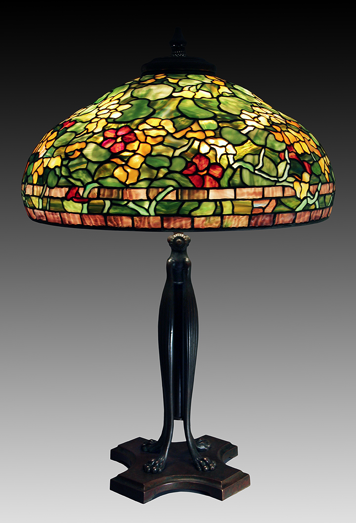 Tiffany Studios 22-inch diameter Nasturtium table lamp