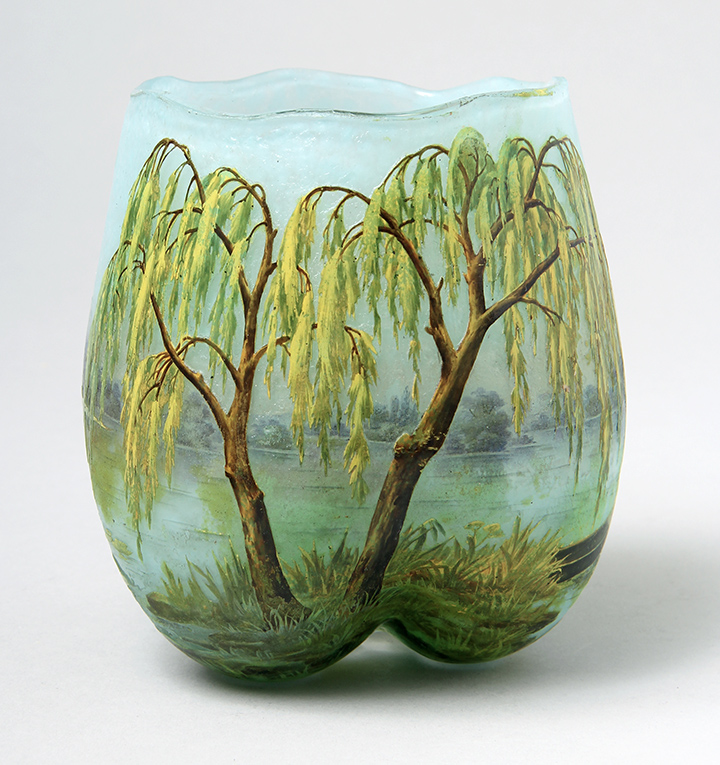 Rare Daum Nancy Weeping Willow vase