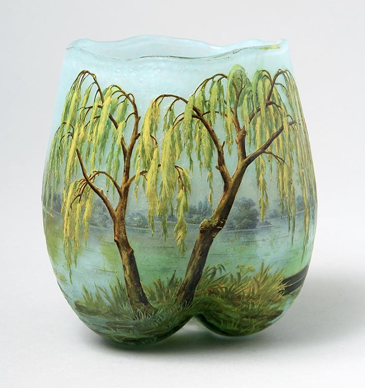 Rare Daum Nancy Weeping Willow vase