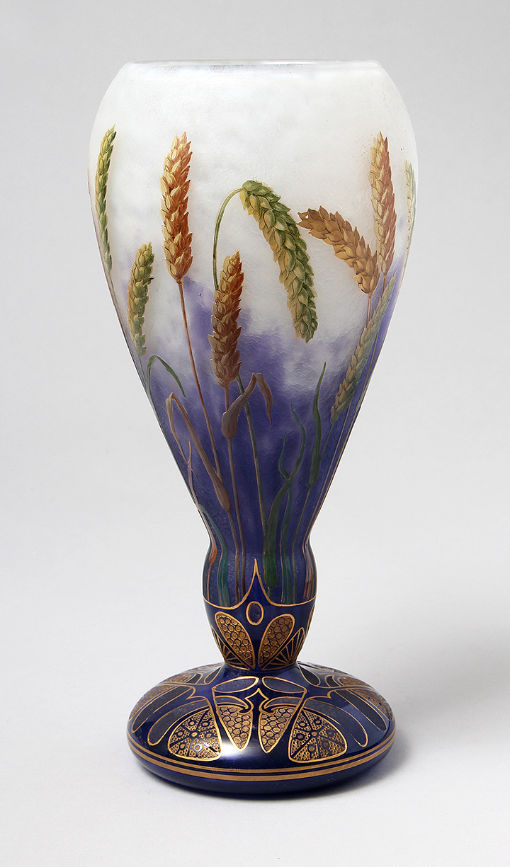 Rare Daum Wheat vase