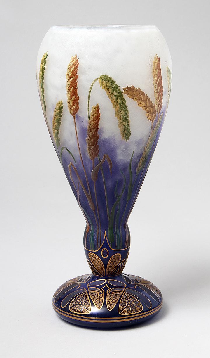 Rare Daum Wheat vase