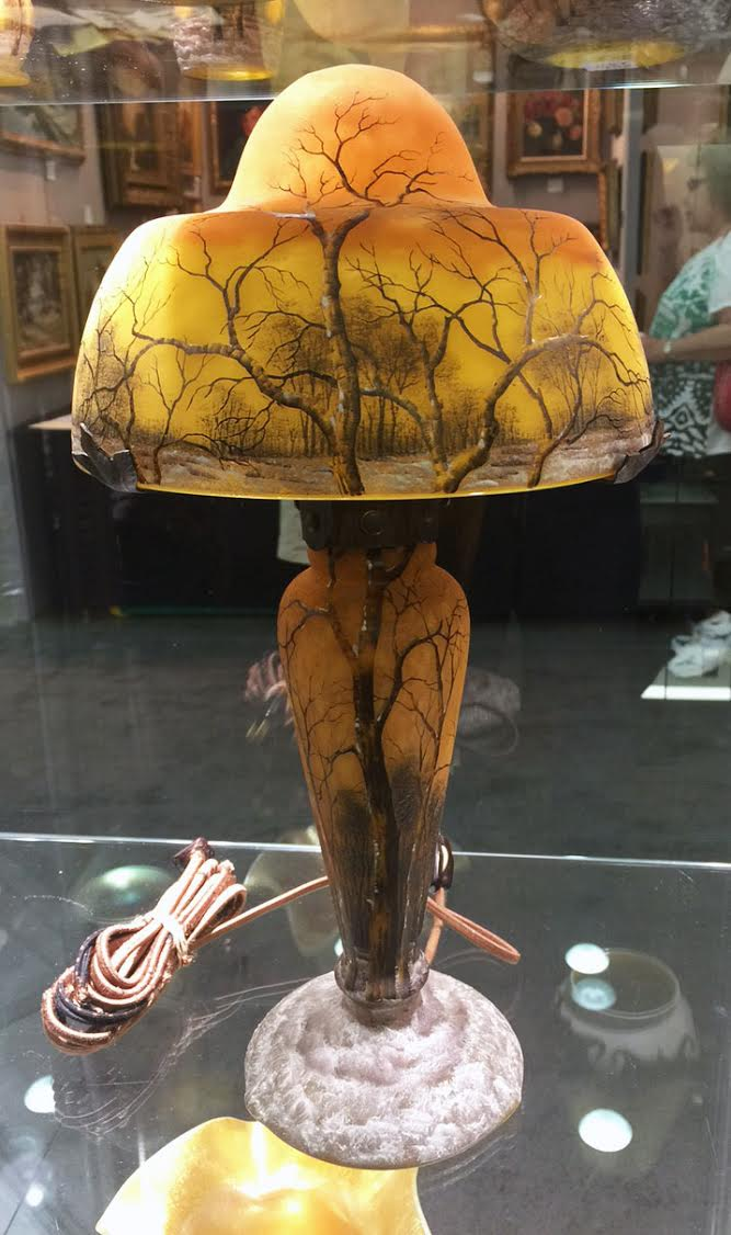 We'll have this great Daum Nancy Winter lamp at the show