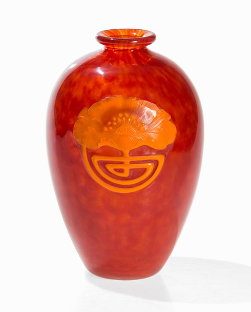 Important padded and wheel-carved Schneider vase, Auctionata lot #58