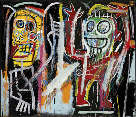 Basquiat painting Dustheads, sold at Christie's May 15, 2013