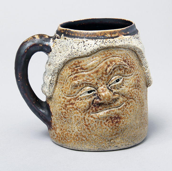 The first of the new items --  a great Martin Brothers double-face mug