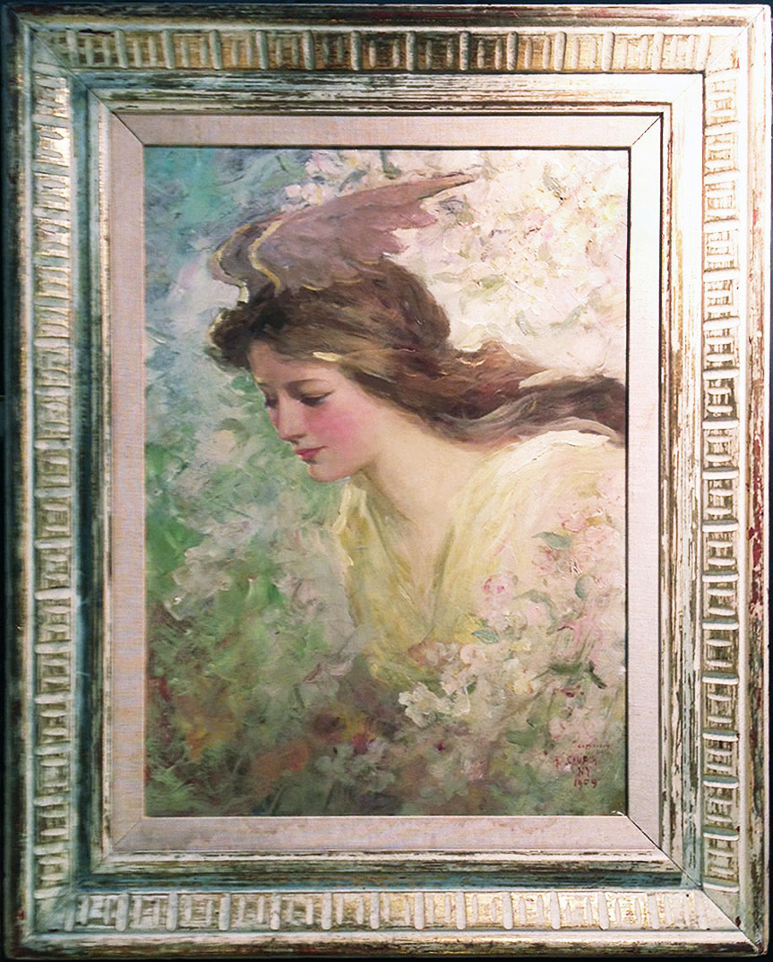 We sold this beautiful painting by American illustrator Frederick Stuart Church.