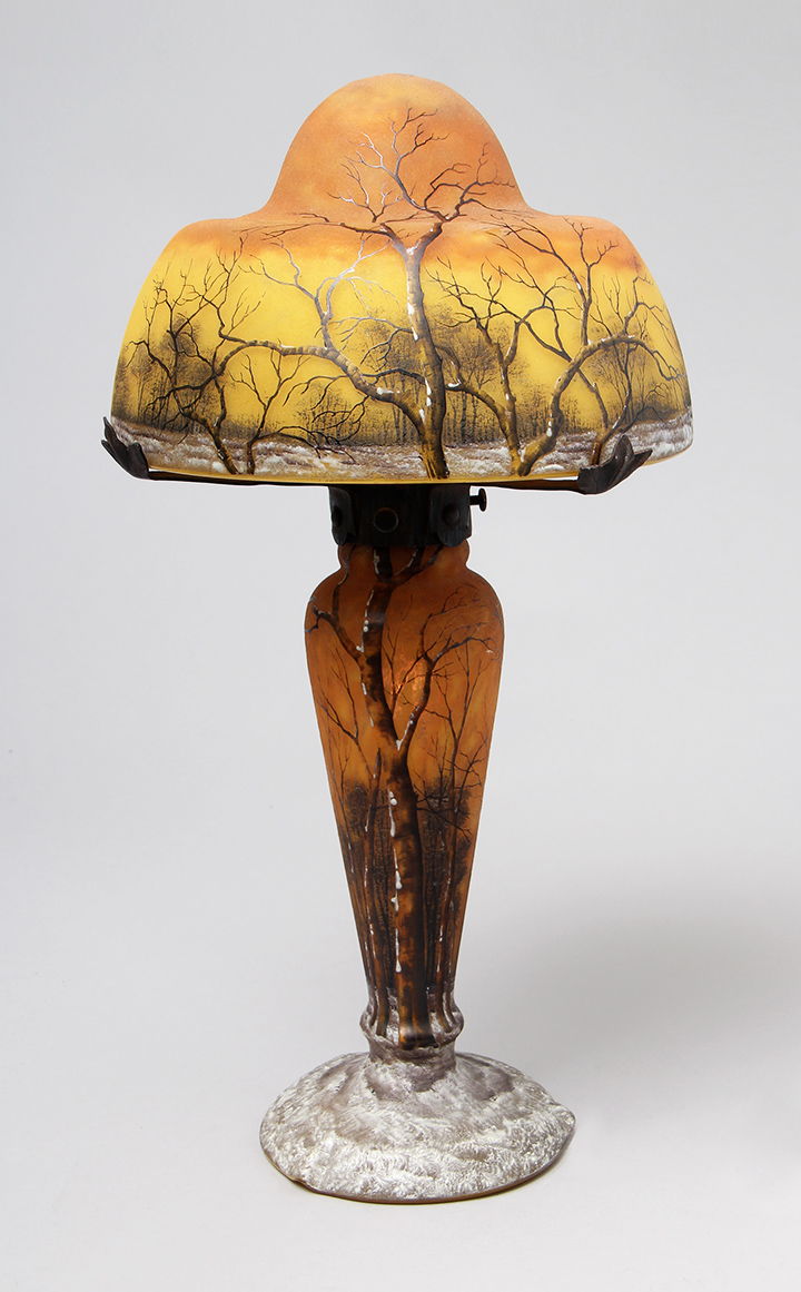 We'll have this wonderful Daum Nancy Winter lamp at the show
