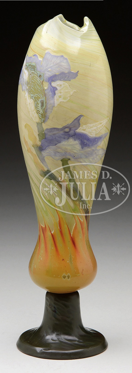 Important Gallé marquetry vase, Julia lot #1130