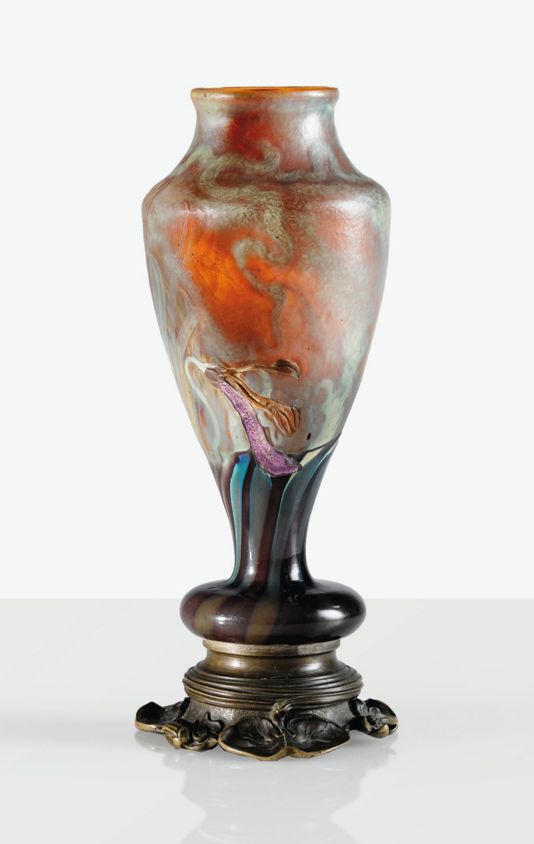 Fine Gallé marquetry vase, Sotheby's lot #13