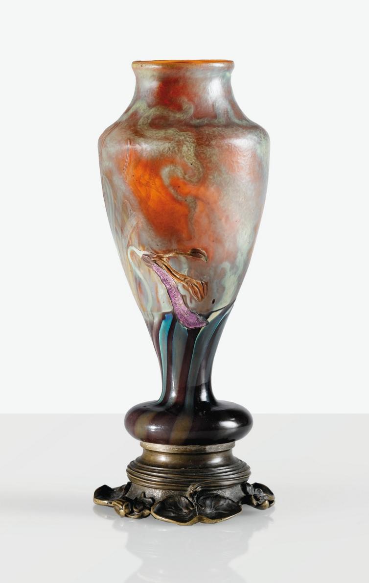 Fine Gallé marquetry vase, Sotheby's lot #13