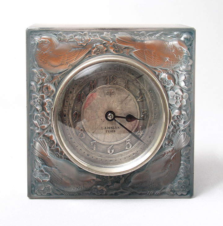 Lalique Moineaux clock, like the one being shipped