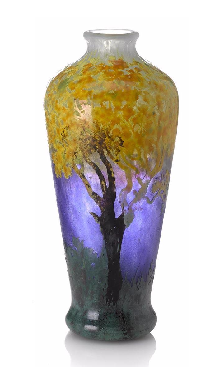 Daum Nancy Impressionist vase, Bonham's lot #1011