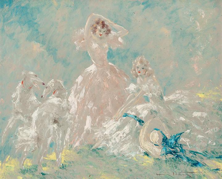 Louis Icart oil painting, Heritage lot #60133