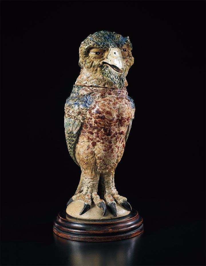 Martin Brothers Disraeli bird, Phillips lot #7