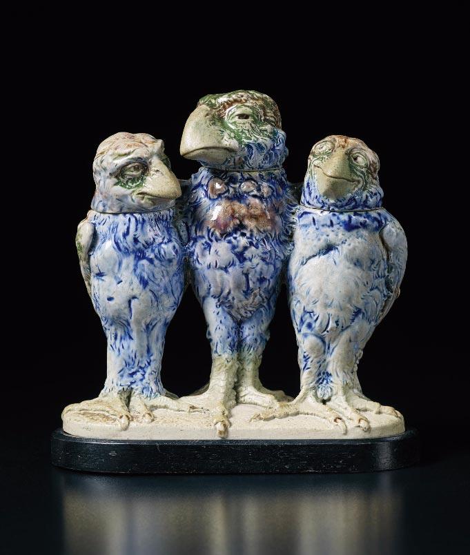 Martin Brothers triple bird, Phillips lot #23