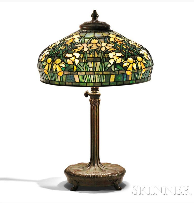 "Tiffany Studios 22"" Daffodil table lamp, Skinner lot #318"