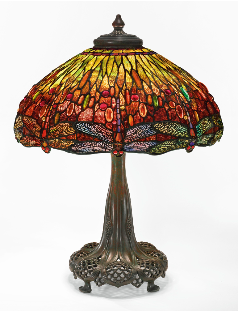 Tiffany Dragonfly table lamp, Sotheby's lot #211