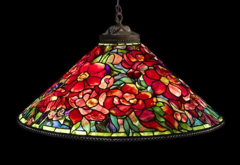 Tiffany Studios Floral Bouquet chandelier, Bonham's lot #1008