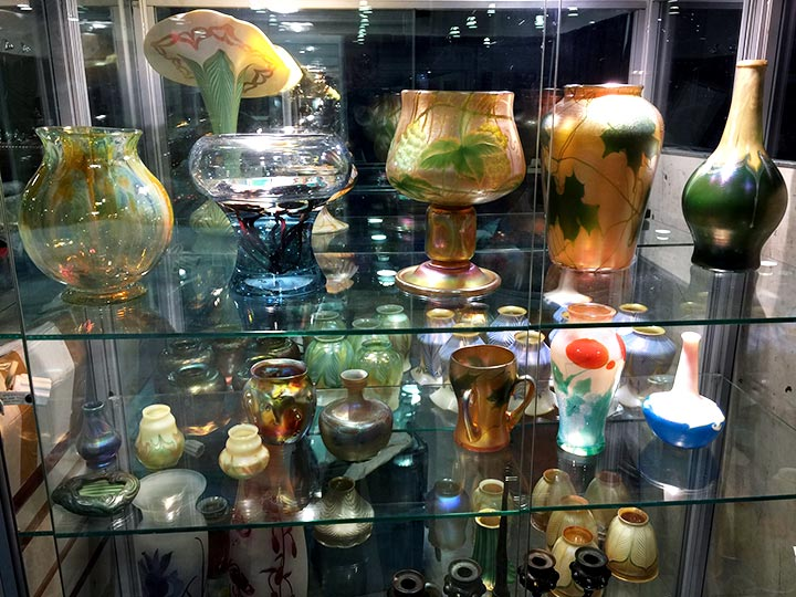 Some of the Tiffany Favrile glass we'll have for sale