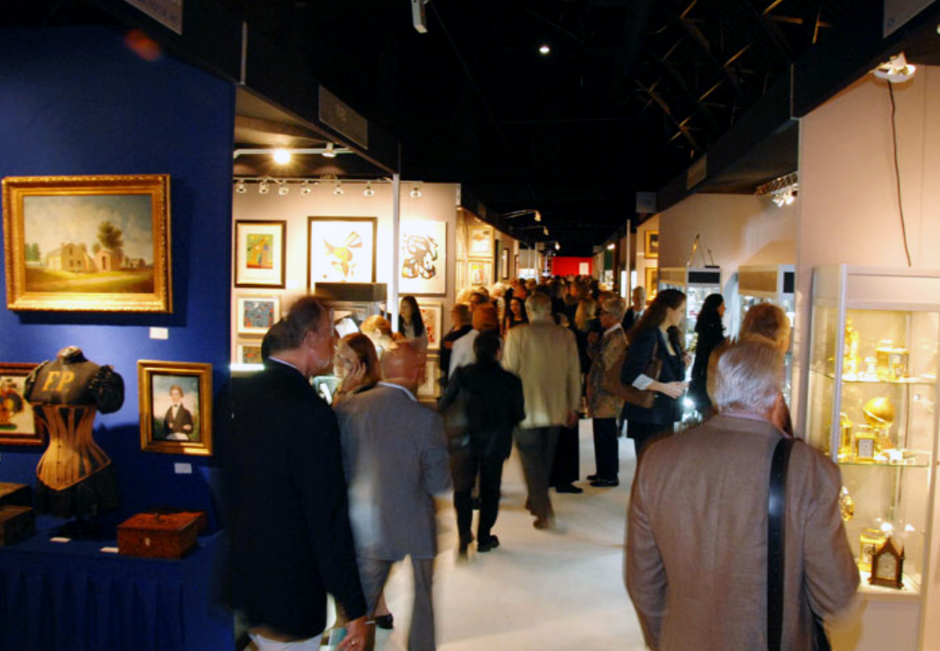 Opening night at the New York Art, Antique and Jewelry Show
