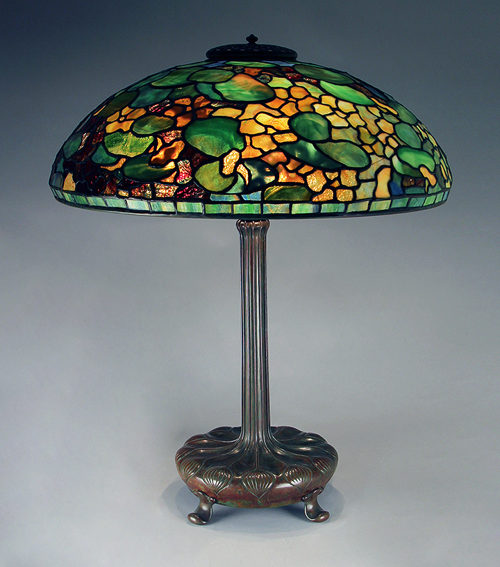 This Tiffany Studios 20-inch diameter Nasturtium is one of over 20 lamps