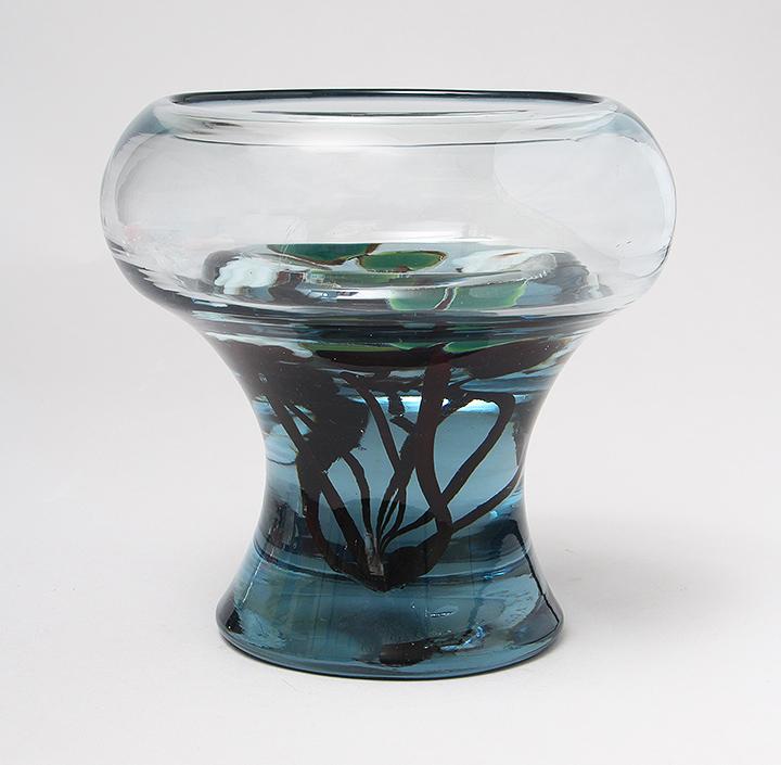 Very important Tiffany Favrile Aquamarine vase