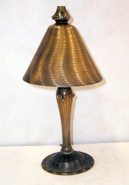 The common Tiffany Arabian lamp is about half the size