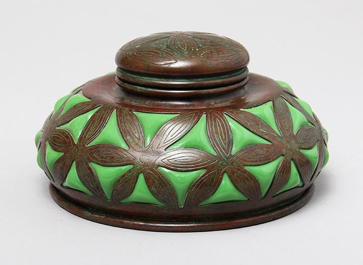 We sold this fine Tiffany Studios inkwell on Sunday