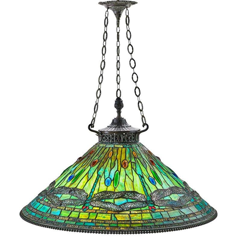 Tiffany Dragonfly chandelier, Rago lot #1