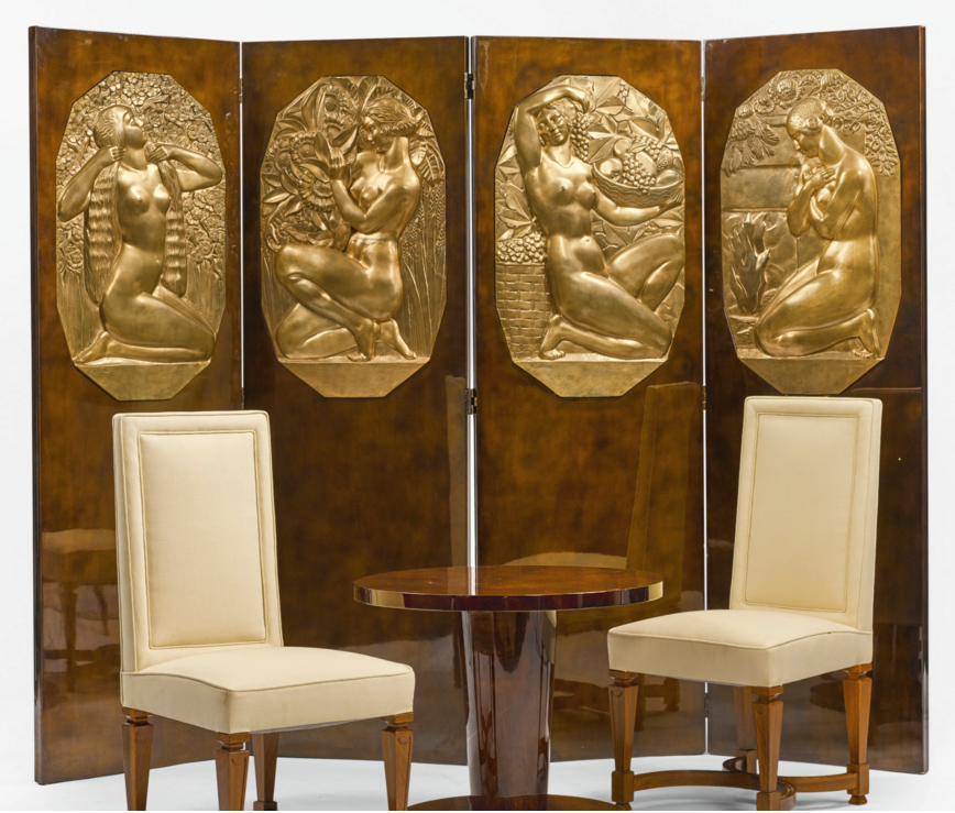 Art Deco screen, Sotheby's lot #140