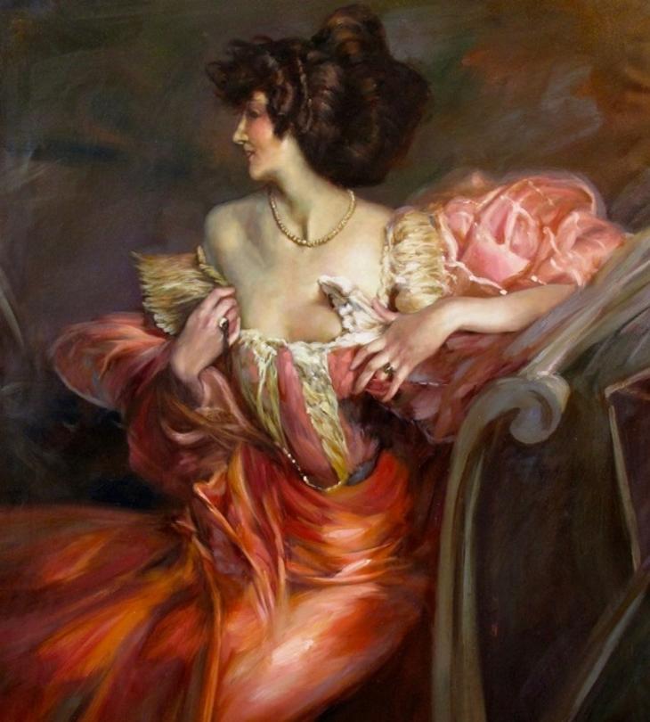 Giovanni Boldini painting of Madame de Florian's mother Marthe de Florian