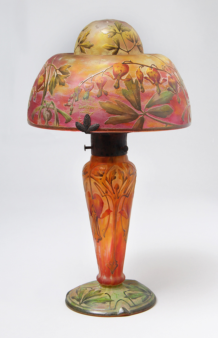 We'll have this fantastic  Daum Nancy Bleeding Hearts lamp at the show