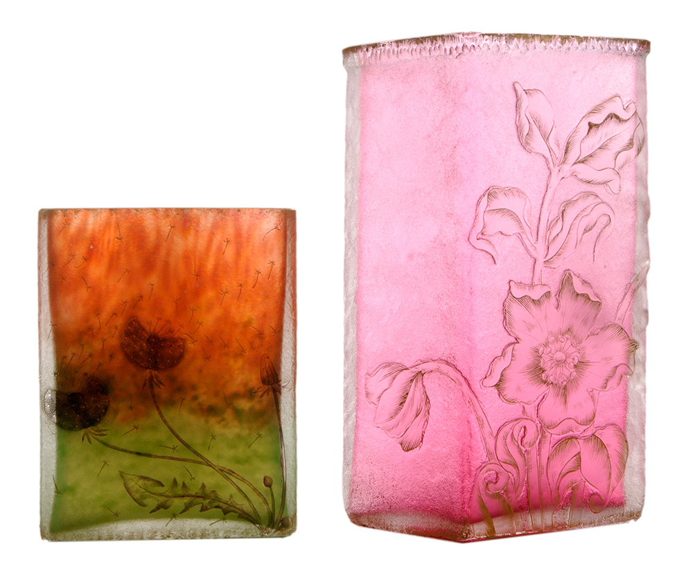 Brunk lot #144 consisted of two Daum vases