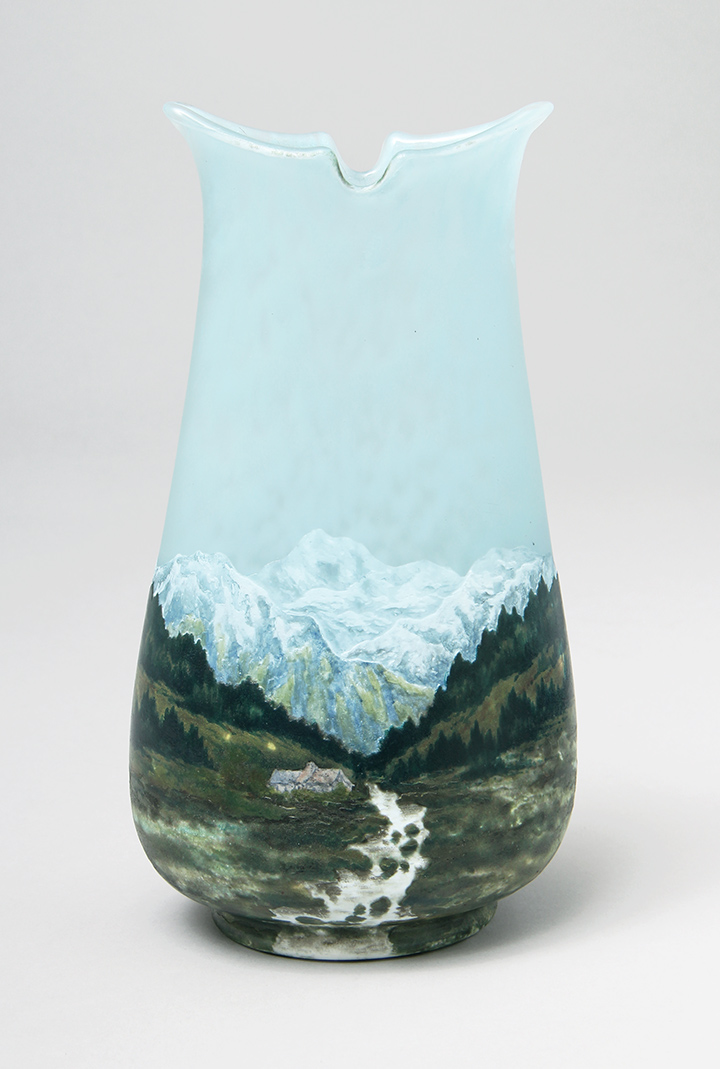 Killer Daum Nancy French Alps scenic vase