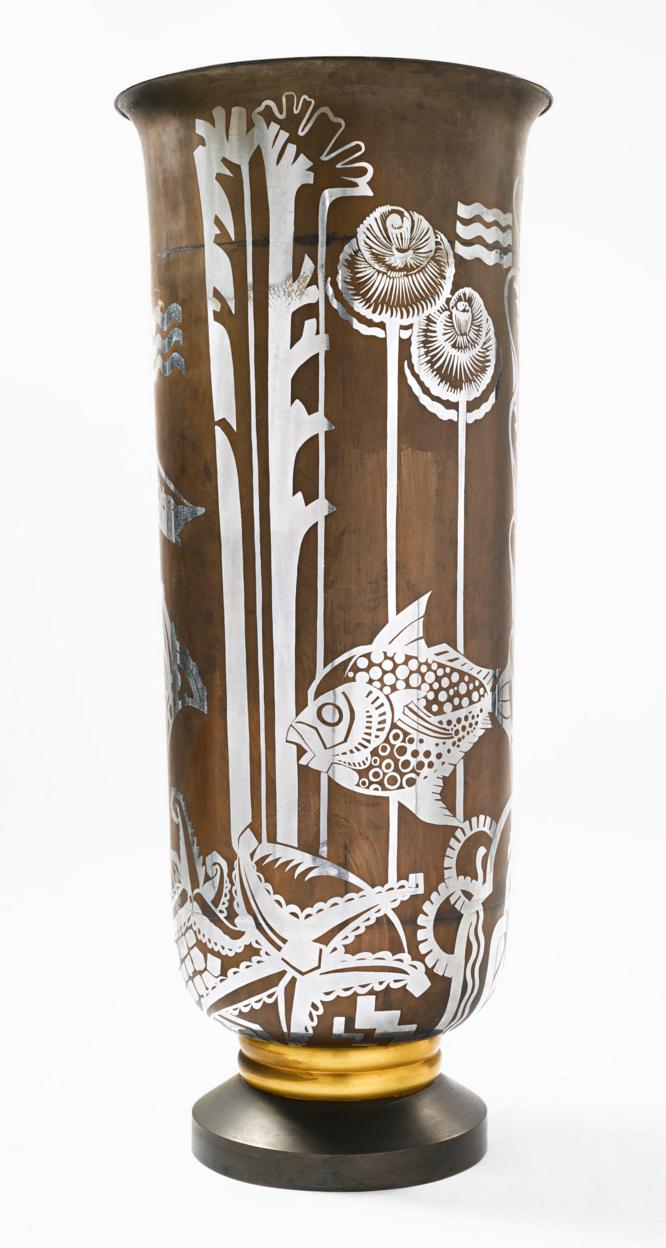 Fernand Grange Art Deco floor vase, Sotheby's lot #147