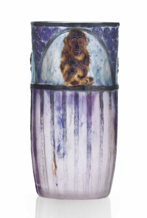 Argy-Rousseau Singes vase, Christie's lot #111