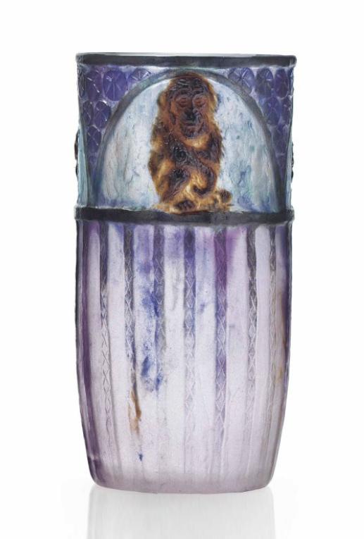 Argy-Rousseau Singes vase, Christie's lot #111