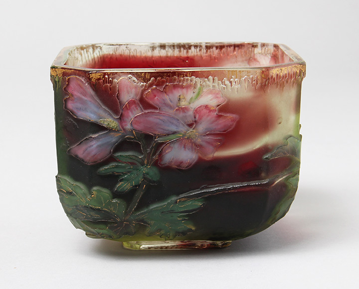 We sold this gorgeous piece of internally decorated Burgun & Schverer glass at the show