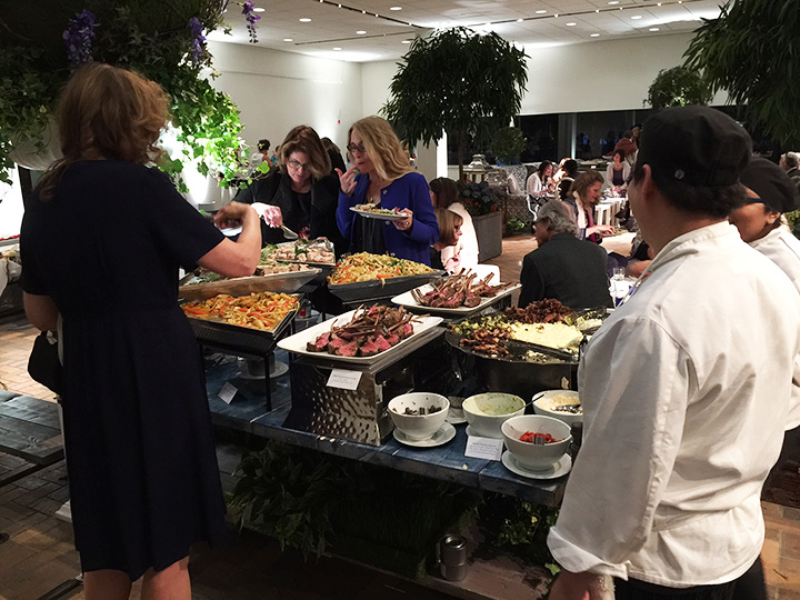 One of the delicious food stations at the preview party