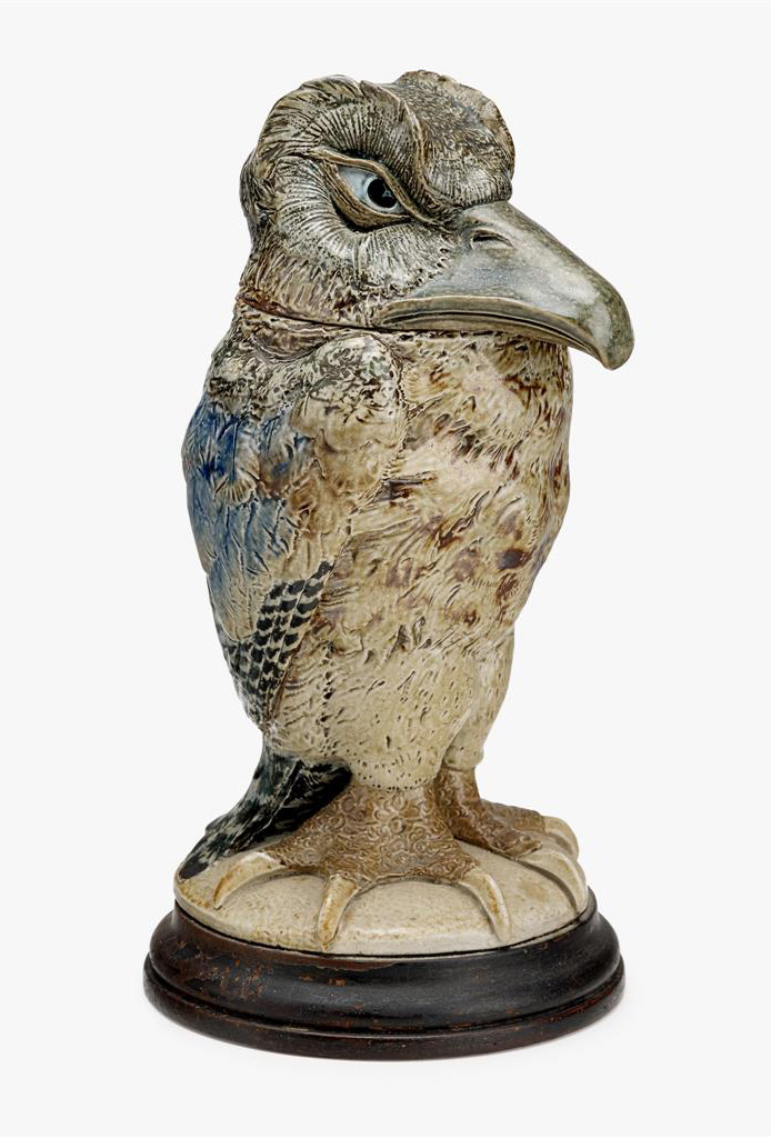 Martin Brothers bird tobacco jar, lot #97