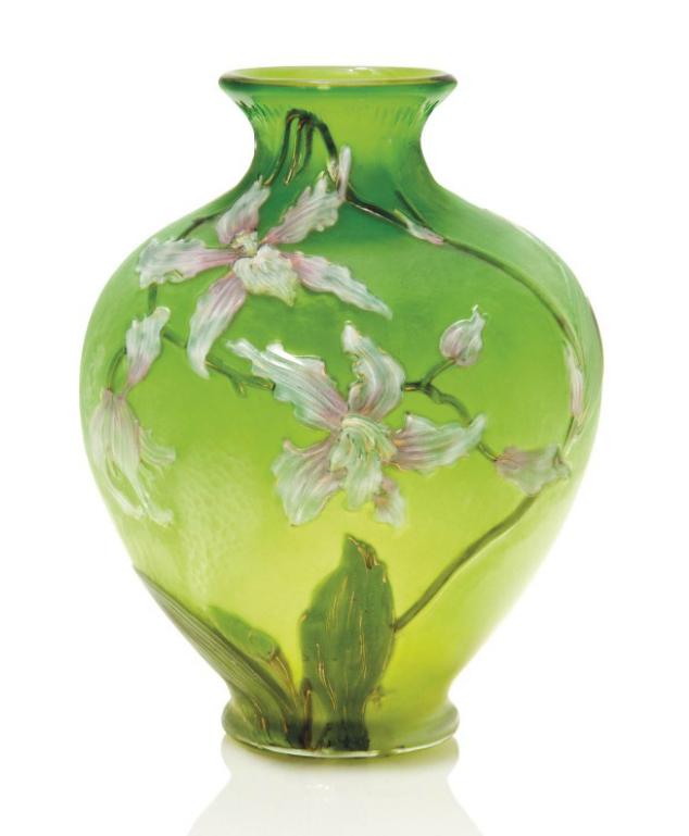 Burgun & Schverer Clematis vase, Christie's lot #118