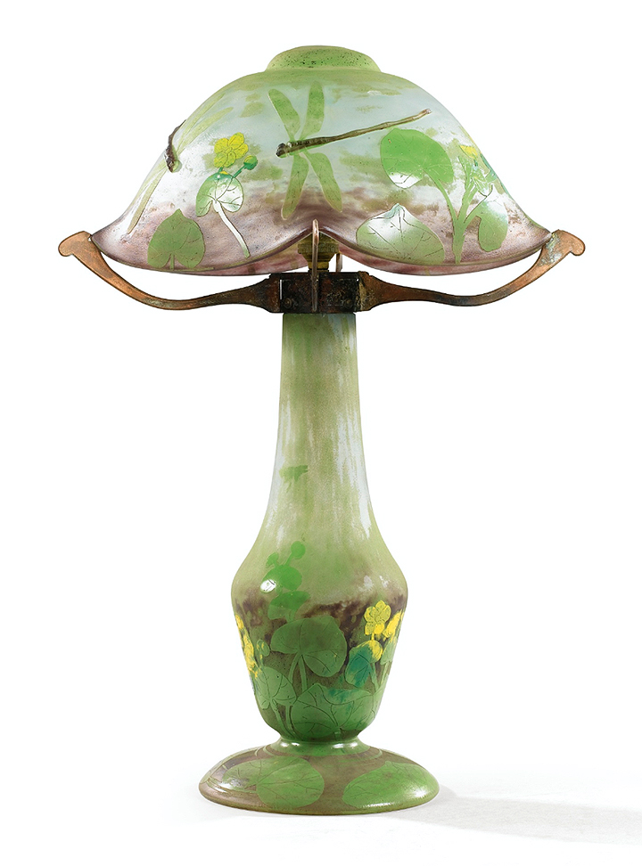 Daum Dragonfly table lamp, Sotheby's lot #8