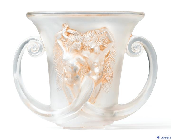 R. Lalique Nadica vase, Sotheby's lot #16