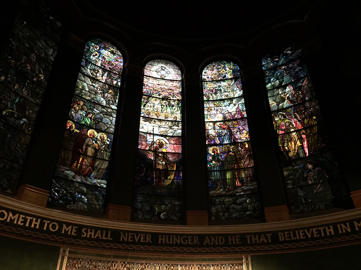 The main windows of St. Michael's are spectacular